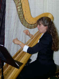 Genie Thiergartner your Wedding Harpist of choice is available on a contracted egagement basis.  Beautiful harp music can be yours at your next event, contact Genie Thiergartner To Schedule your engagment